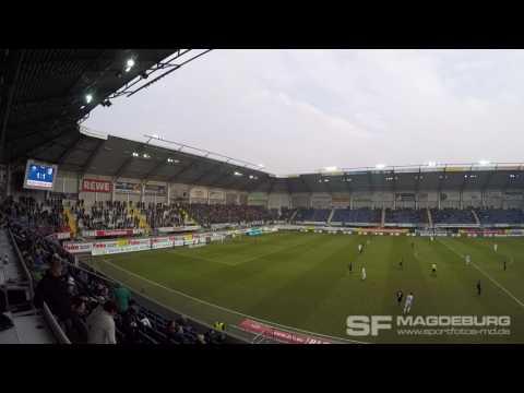 Video: SC Paderborn - 1. FC Magdeburg Torjubel und Wechselgesang