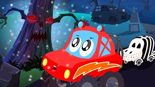 Video little red car | Halloween tree | scary car song for children MP3, 3GP, MP4, WEBM, AVI, FLV Mei 2017