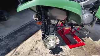 9. 2016 Yamaha Grizzly 700 view of the frame/brakes/air intake