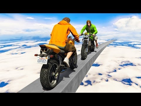 GTA 5 %99 İMKANSIZ MOTOR PARKURU!! (GTA 5 Online Komik Anlar)