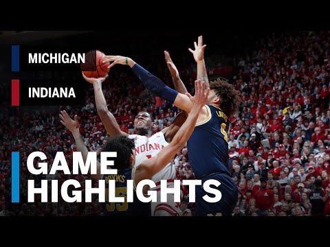 Highlights: Michigan at Indiana | Big Ten Basketball
