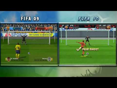 Wii Fifa 09 vs Fifa 10 [Original] HD