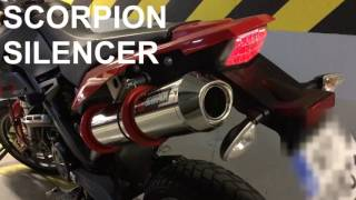 6. BMW G650 X-MOTO Scorpion exhaust vs original