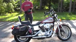 8. 1999 Harley Davidson Dyna Convertible FXDS (red-slvr) 1434 Fallen Cycles Test Video