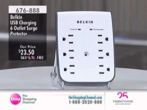 Belkin USB Charging 6 Outlet Surge Protector at The Shopping Channel 676888