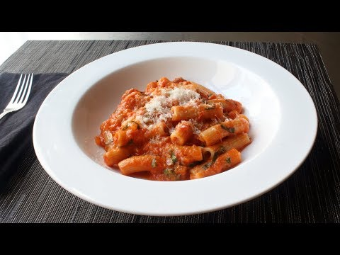 Rigatoni Al Segreto - Rigatoni with Secret Sauce - Gino's Rigatoni Al Segreto