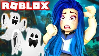WE'RE TRAPPED INSIDE A ROBLOX HAUNTED MANSION!!
