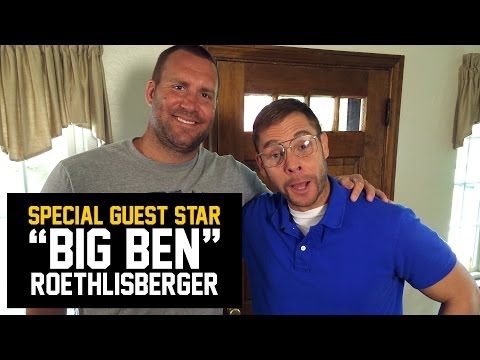 pittsburgh - Steelers Quarterback Ben Roethlisberger visits Pittsburgh Dad's house. Get Big Ben & Pittsburgh Dad sauces at http://www.blackandgoldfan.com Like Pittsburgh ...