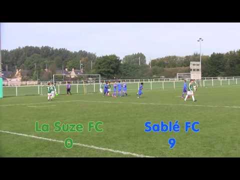 U11 - La Suze FC  - Sablé FC - Les neuf buts - 23.09.2017