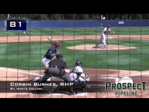 Corbin Burnes Prospect Video, RHP, St. Mary's College
