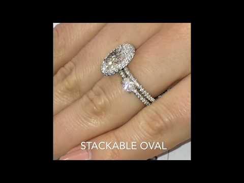 2.60 ct Oval Diamond Halo Engagement Ring