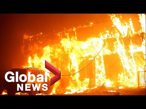 California wildfires: Paradise, California 'mostly destroyed' by Camp Fire
