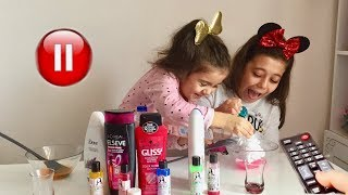 PAUSE SLIME CHALLENGE Selena vs Hades Slaym Eğlenceli Çocuk Videosu