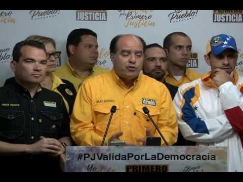 Julio Borges: 103.216 personas validaron por Primero Justicia este sábado