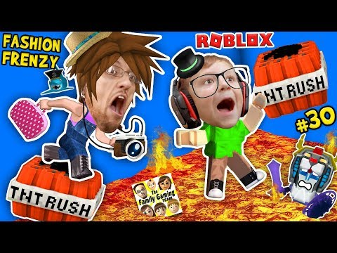 ROBLOX THE FLOOR IS LAVA (TNT RUSH) + FGTEEV FASHION FRENZY Best Dressed Challenge Skit GamePlay #30 (видео)