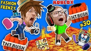 ROBLOX THE FLOOR IS LAVA (TNT RUSH) + FGTEEV FASHION FRENZY Best Dressed Challenge Skit GamePlay #30