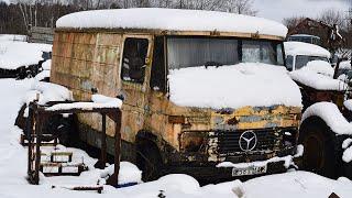 Próba odpalenia Mercedesa-Benz 407D po 12 latach stania!
