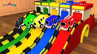 Learning Colors city Vehicle jumping magic car wash machines transforming Play for kids car toys