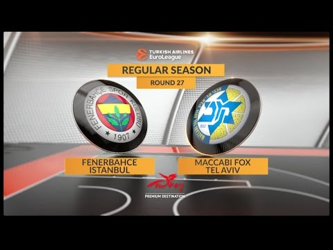 EuroLeague Highlights RS Round 27: Fenerbahce Istanbul 79-81 Maccabi FOX Tel Aviv
