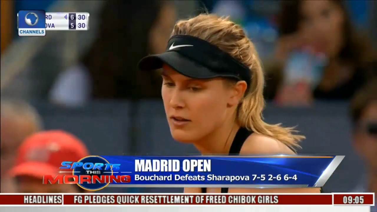 Sports This Morning: Review Of Madrid Open As Bouchard Defeats Sharapova