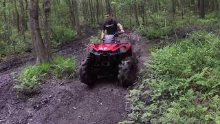 7. slinging some nasty clay Outlander can am 570 29 5 295 outlaws