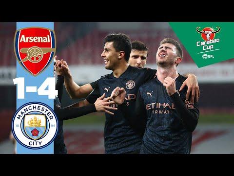 HIGHLIGHTS | ARSENAL 1-4 MAN CITY | CARABAO CUP