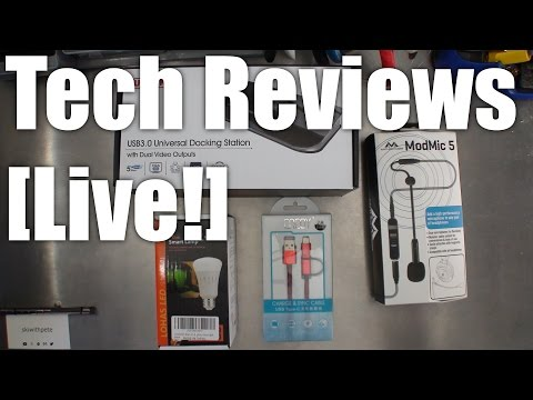 Tech Reviews Live! - Mailbag episode with USB cables, docking station, microphone and LED.