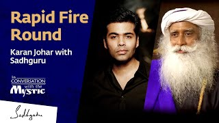 Video Rapid Fire Round – Karan Johar with Sadhguru MP3, 3GP, MP4, WEBM, AVI, FLV Oktober 2018