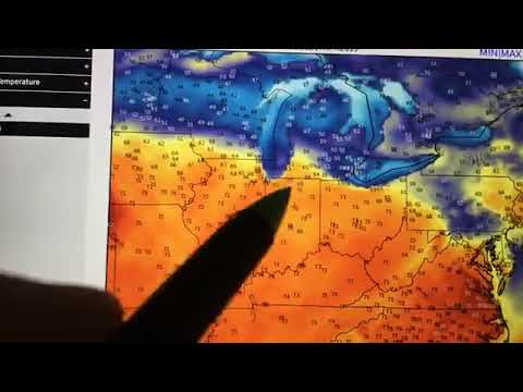 Weather forecast for April 15, 2019