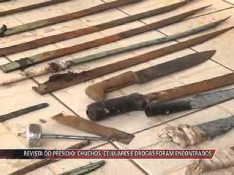 JATAÍ | Revista no presídio encontra chuchos, celulares, drogas, máquina de fazer pinga, entre outros objetos ilícitos