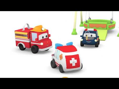 Skaters - Tiny Town: Street Vehicles Ambulance Police Car Fire Truck