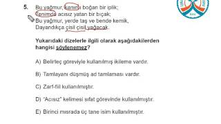 ygs kds 1 türkçe a kitapçığı soru 5