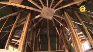 Нестандартный деревянный каркас дома