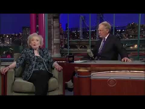 Betty White   Crying, Vodka & Incest   5⁄6 Appearances on letterman