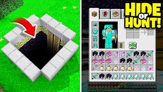 this SECRET Minecraft BUNKER is hiding the richest player.. (Hide Or Hunt #6)