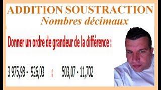 Maths 6ème - Additions et soustractions de nombres décimaux Exercice 12