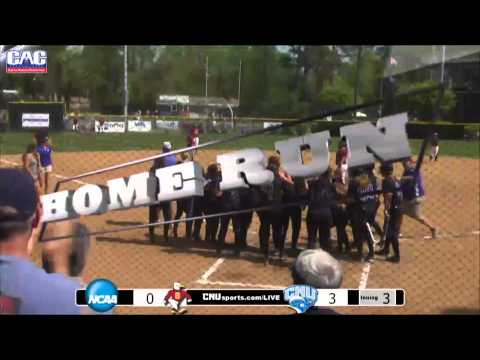 CNU Softball CAC Championship Highlight