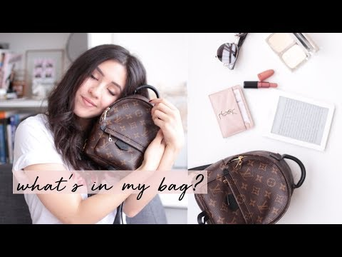 What's in my bag? Louis Vuitton Palmsprings Mini