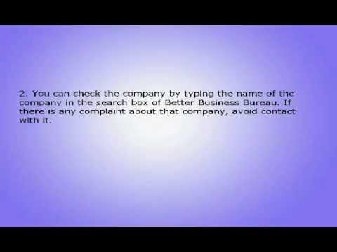 Work From Home Scams Advice