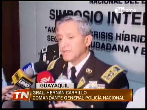 Policía Nacional organizó conferencia para analizar amenazas al orden público