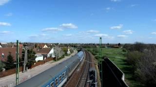 Vecses Hungary  city photos : Mini footage - Train under the bridge (Vecsés, Hungary)
