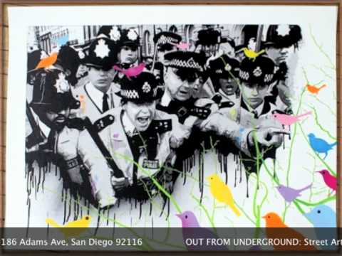 Out From Underground Street Art show through September 17
