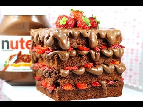 NUTELLA WAFFLE CAKE Recipe by Cupcake Addiction