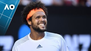Highlights from Jo-Wilfried Tsonga's comeback win against Dan Evans at the 2017 Australian Open.