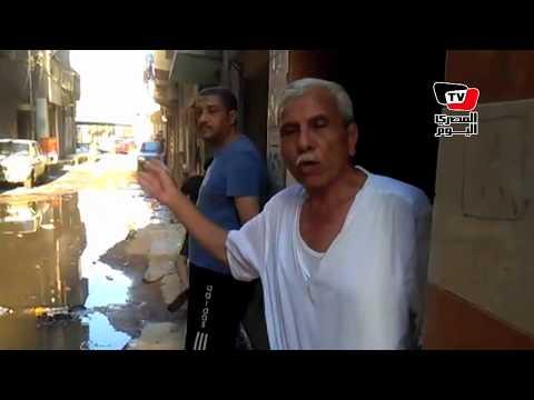 أهالي «محمد بدر» بالمحلة يستغيثون من مياه المجاري: «محدش معبرنا»