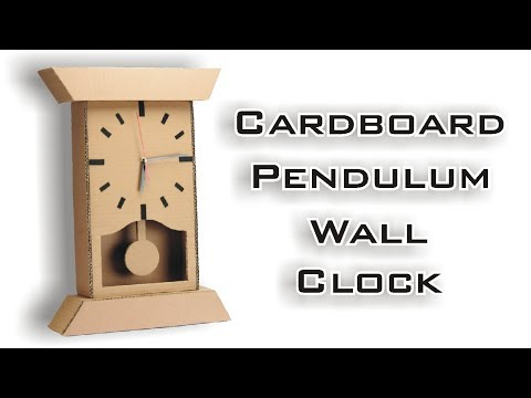How To Make Wall Mounted Pendulum Clock Using Cardboard