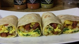 Potato, Egg,&Smoked Sausage Breakfast Burrito |An Easy Breakfast Recipe|