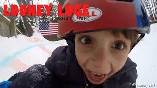 Awesome Dad Builds Snow Luge In Backyard For His Kids