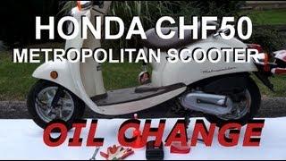 8. Honda Metropolitan CHF50 - OIL CHANGE