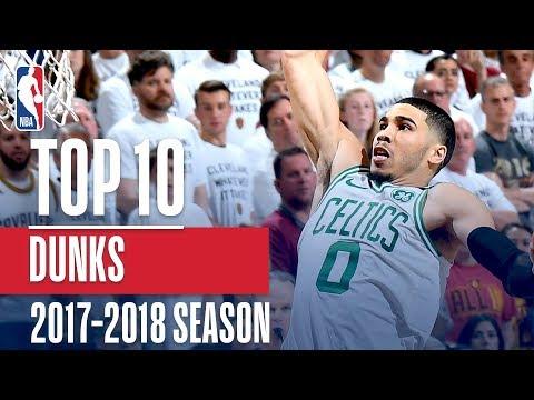 Top 10 Dunks: 2018 NBA Season (видео)